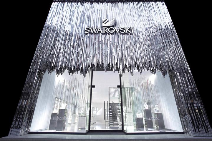 Inspiring retail design of jewelry stores arhitektura for Swarovski jewelry online store