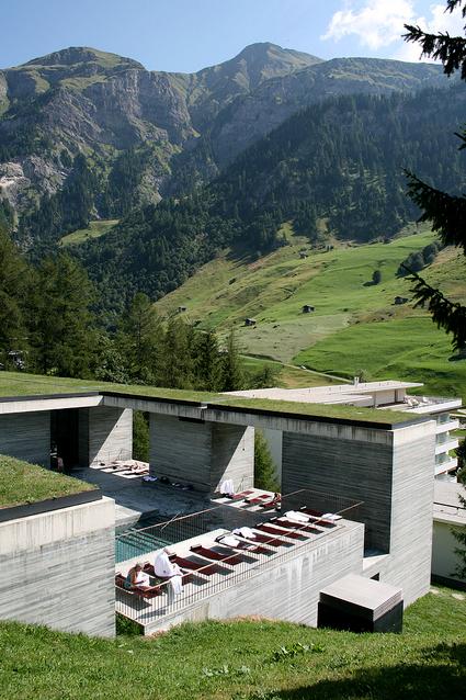 Vals arhitektura for Therme vals vals svizzera