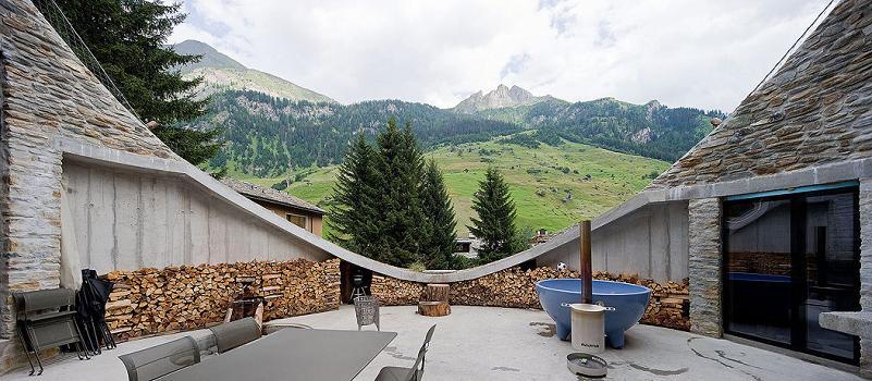Villa Vals Switzerland Arhitektura