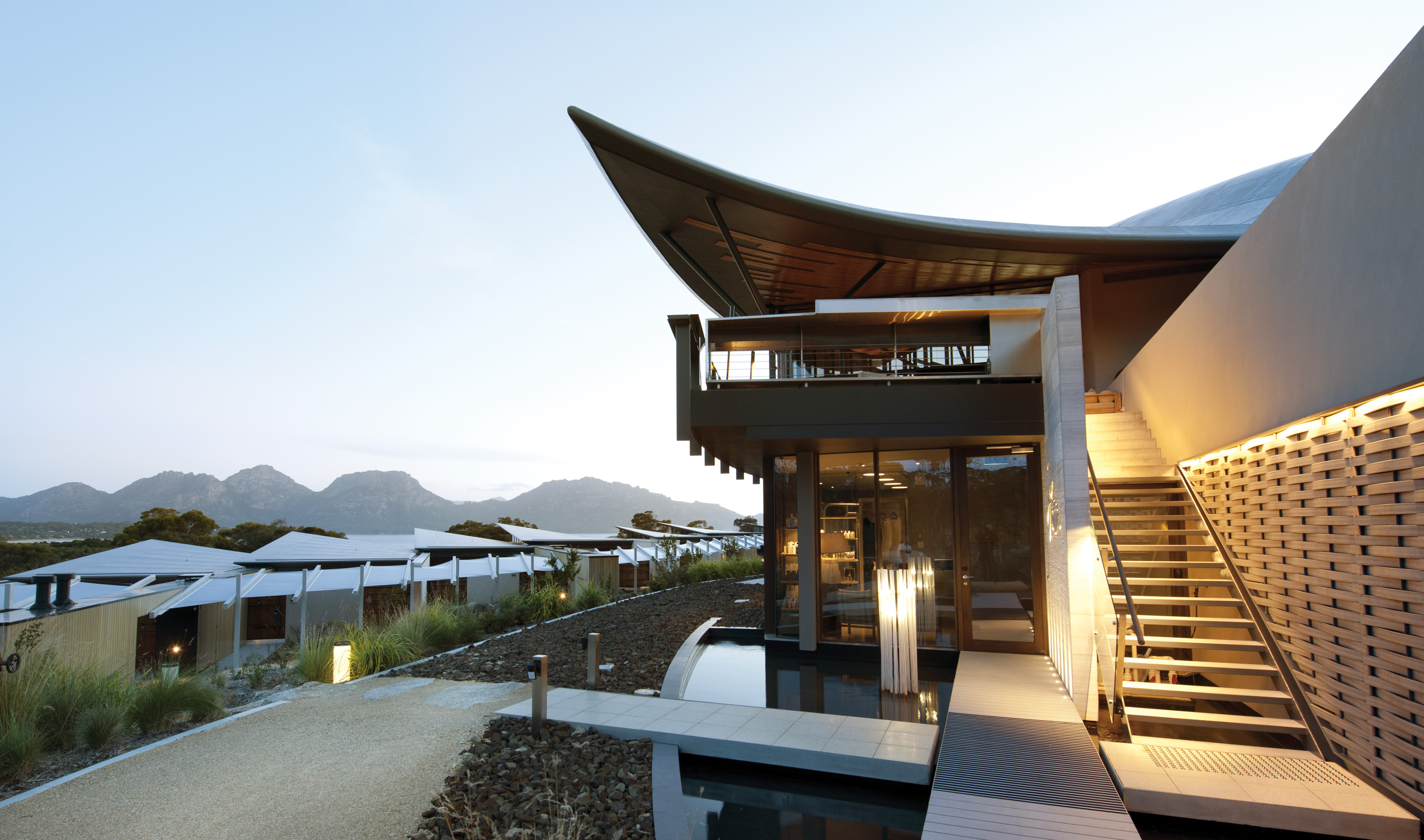The saffire freycinet resort tasmania arhitektura for Top design hotels
