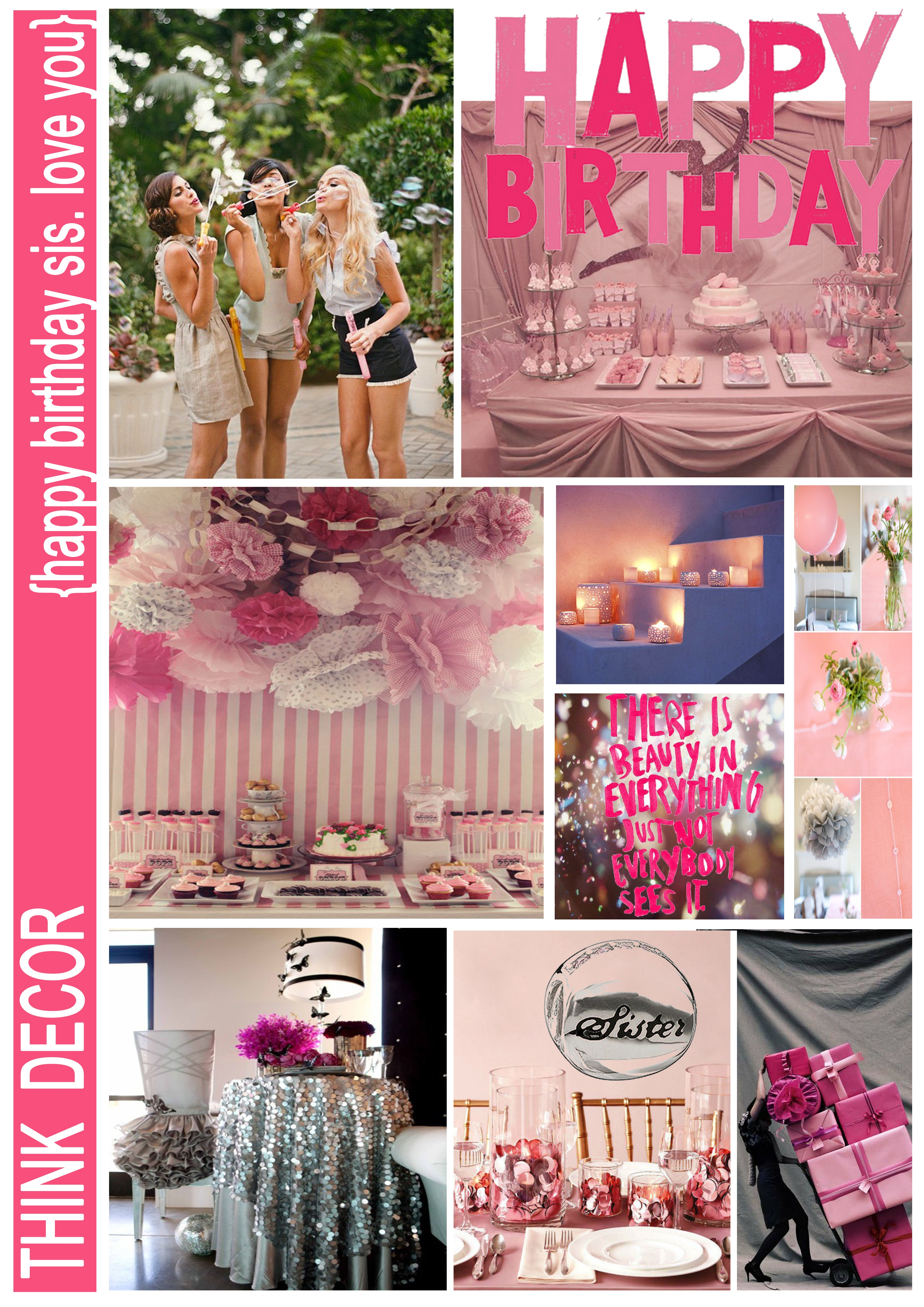 Prepared Some Party Theme Moodboards To Get Some Ideas For Her Party