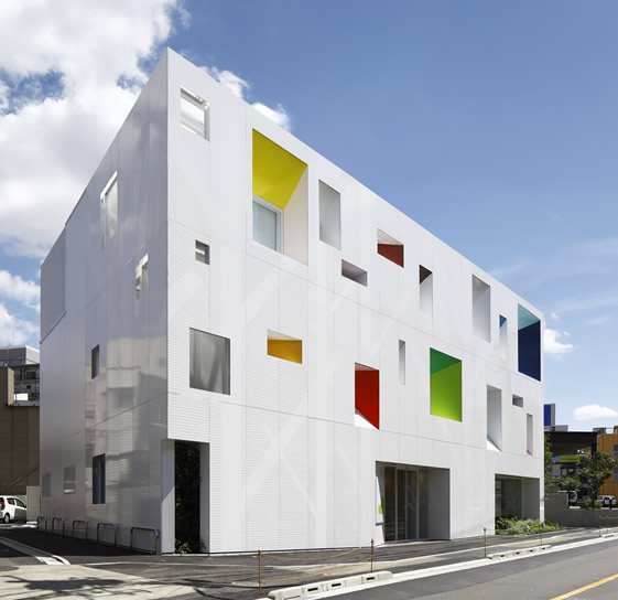 Colorful architecture on pinterest colorful houses for Japanese architecture house design