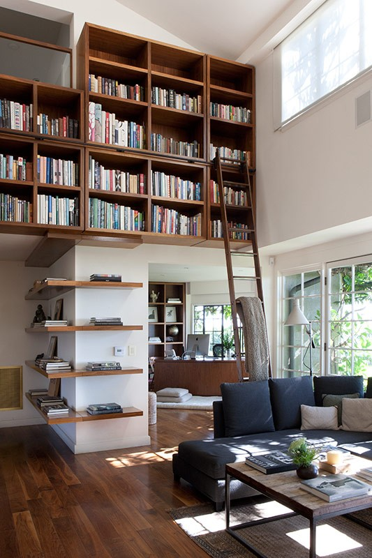 Make A Living Room A Library: LIVING LIBRARY