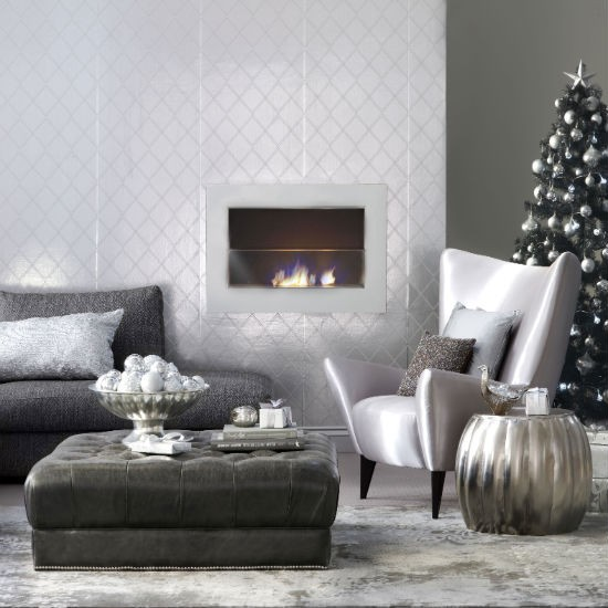 living-room--Christmas--metallic--Ideal-Home