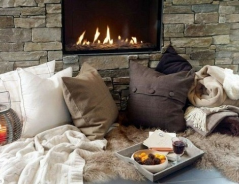 #inspiration #me time #winter #cozy #winter #fireplace