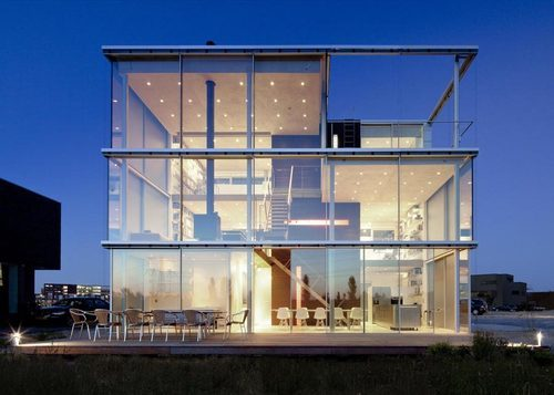 Rieteiland House in Amsterdam, designed by Hans Heeswijk Architects.