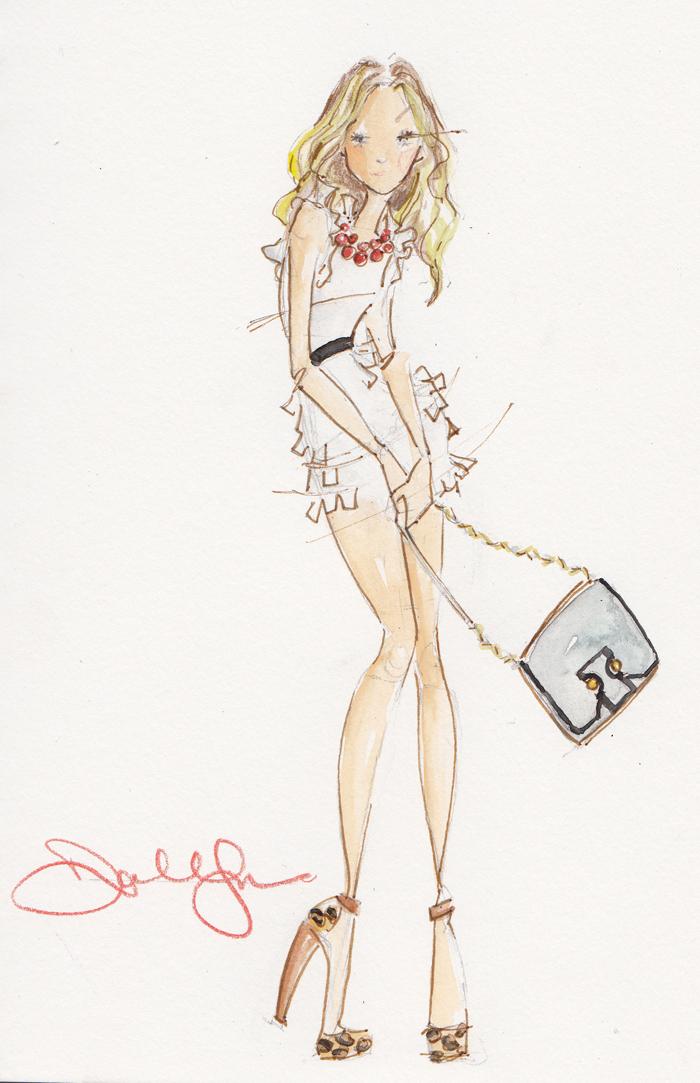 Art: Dallas Shaw Fashion Illustrations