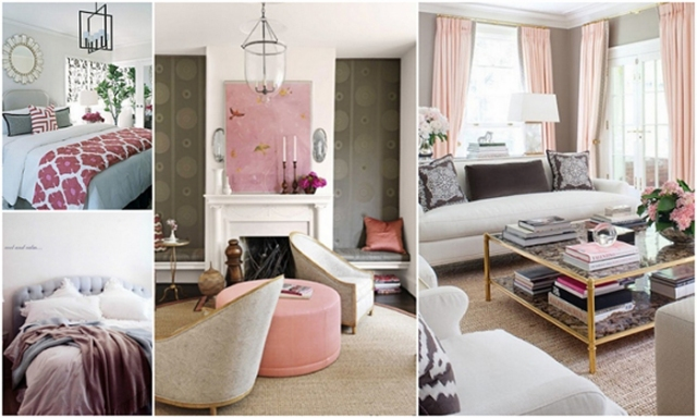 grey and pink collage