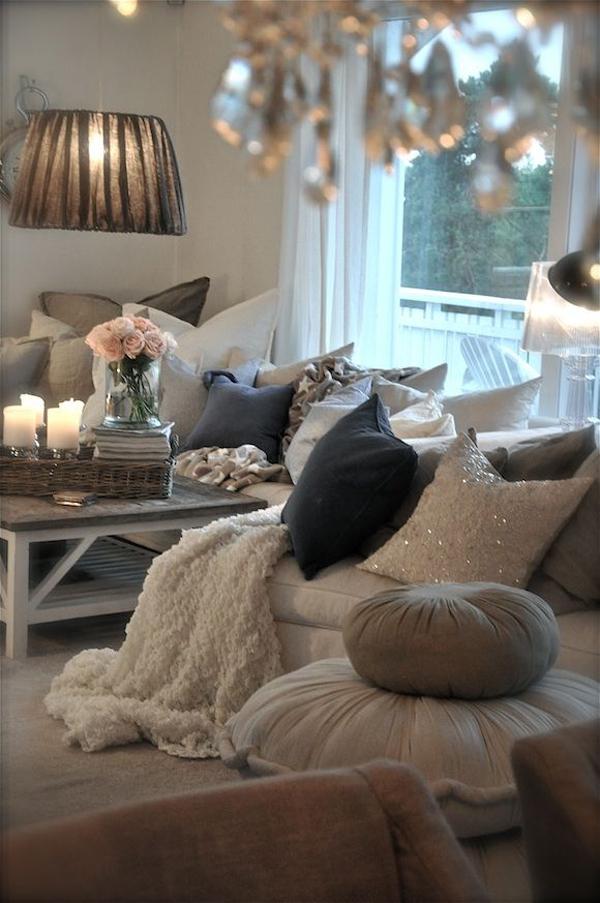 Romantic Living Room: Winter Inspiration